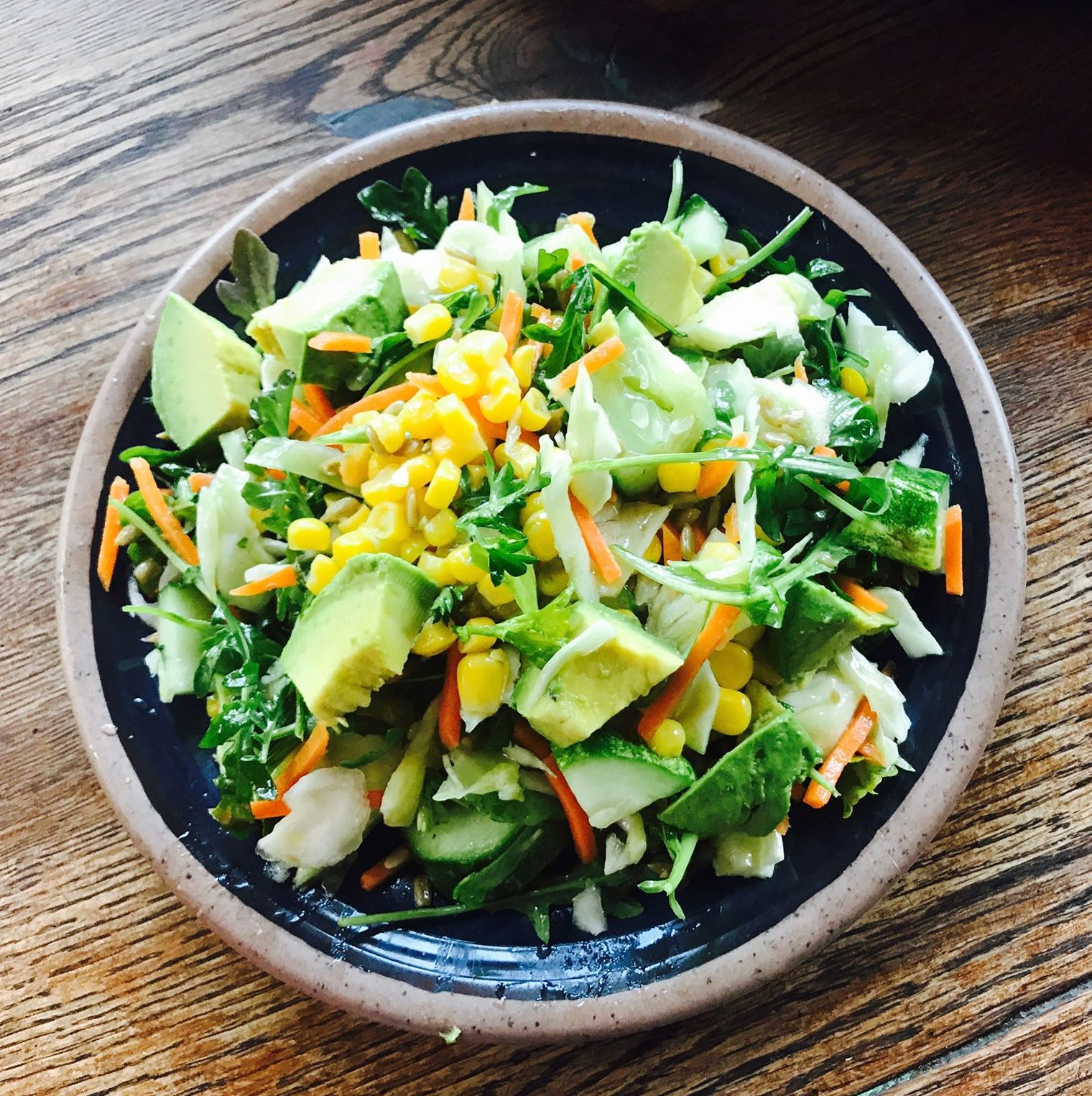 Crisp Veggie Salad With Honey Lemon Dressing Healthy Mama Info